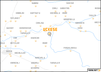 map of Üçkese