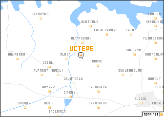 map of Üçtepe