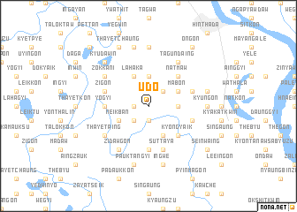 map of Udo