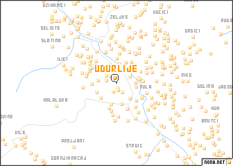 map of Udurlije