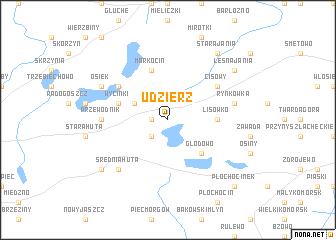 map of Udzierz