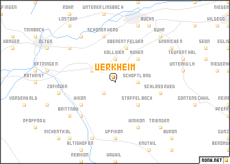 map of Uerkheim