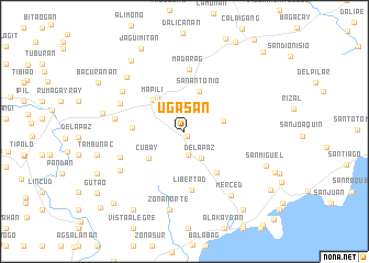 map of Ugasan