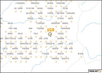 Uga (Nigeria) map - nona.net