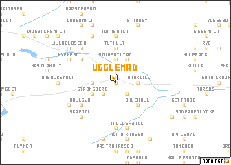 map of Ugglemad