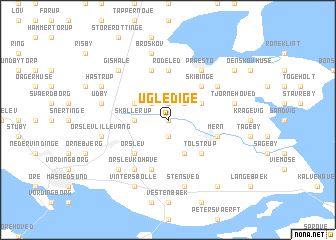 map of Ugledige