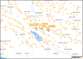 map of Ugljane