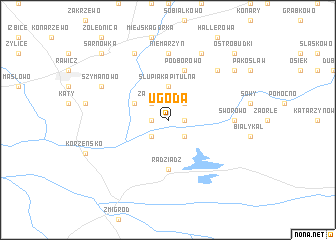 map of Ugoda