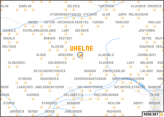 map of Uhelné
