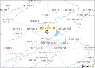 map of Uhryniv