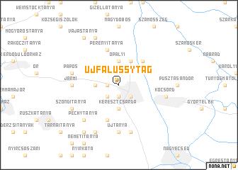 map of Újfalussytag