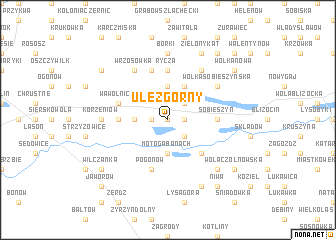 map of Ułęż Górny