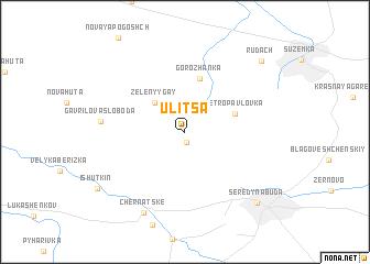 map of Ulitsa