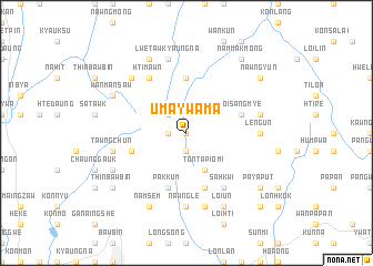 map of Uma-ywama