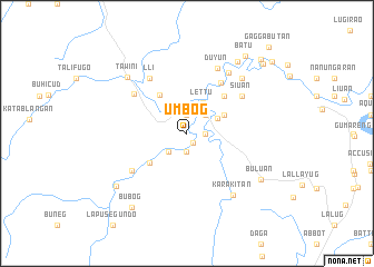 map of Umbog