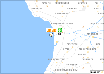 map of Umbri