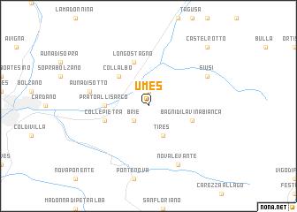 Umes Italy map nona