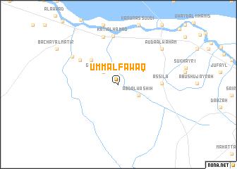 map of Umm al Fawāq