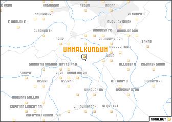 Umm al Kundum Jordan map nonanet