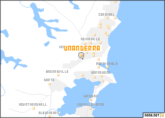 map of Unanderra