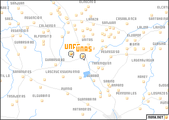 map of Uñas