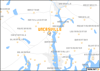 Uncasville United States USA Map Nonanet - Map usa connecticut