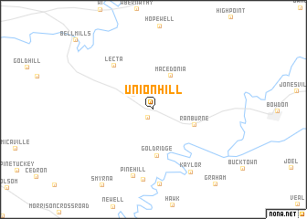 map of Union Hill