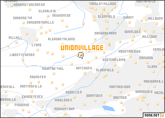 map of Union Village