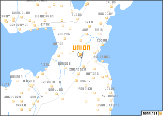 map of Union