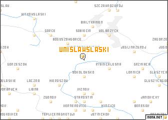 map of Unisław Śląski