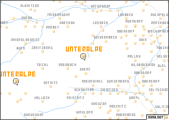 map of Unteralpe