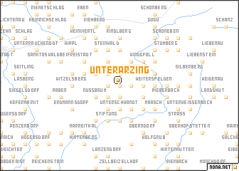 map of Unterarzing