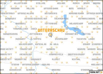 map of Unteraschau