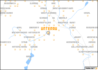 map of Unterau