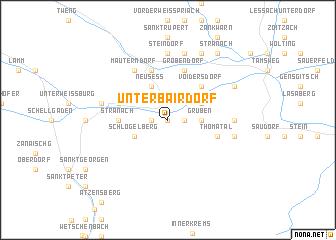 map of Unterbairdorf