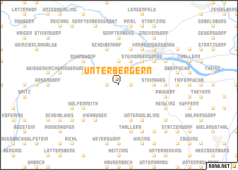 map of Unterbergern