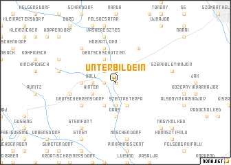 map of Unterbildein