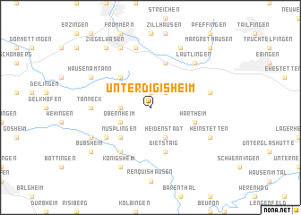 map of Unterdigisheim