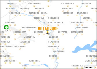 map of Unterdorf