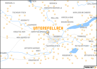 map of Untere Fellach
