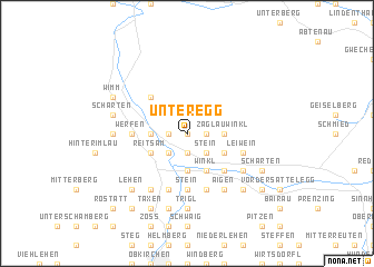map of Unteregg