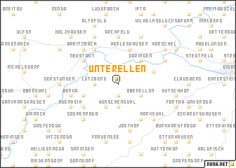 map of Unterellen