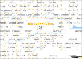 map of Unteremmerting