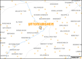 map of Untereubigheim
