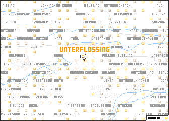 map of Unterflossing