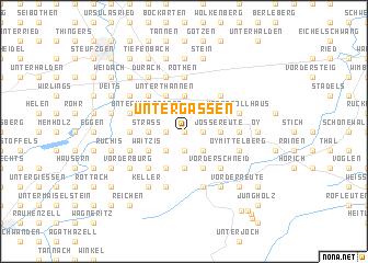 map of Untergassen
