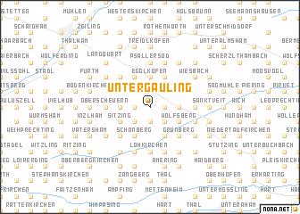 map of Untergauling