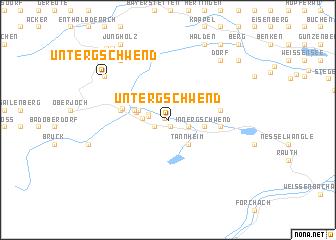 map of Untergschwend