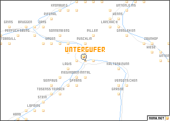 map of Untergufer