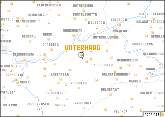 map of Unterhaag